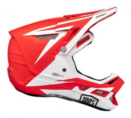 Kask full face 100% AIRCRAFT COMPOSITE Helmet Rapidbomb/Red roz. S (55-56 cm) (DWZ)