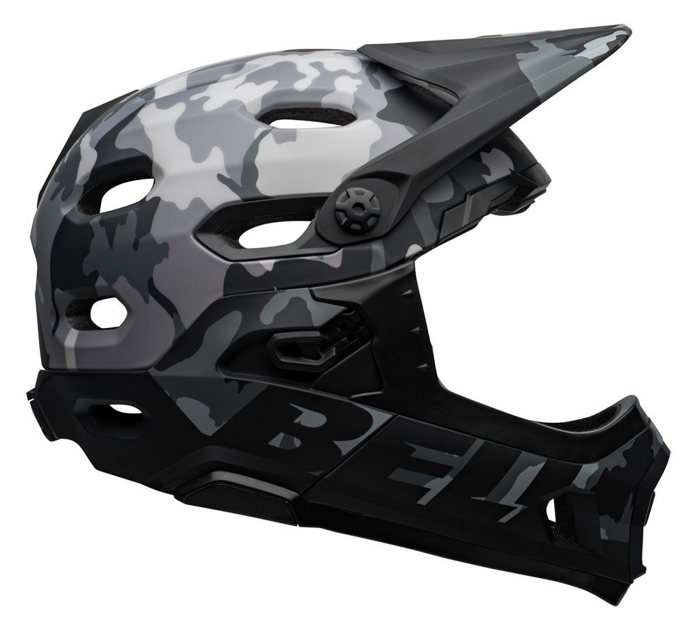 Kask full face BELL SUPER DH MIPS SPHERICAL matte gloss black camo roz. L (58-62 cm) (NEW)