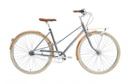 Creme Cycles Rower CAFERACER LADY DOPPIO GRAY ROSE DYNAMO 7s M/L 52 [D]