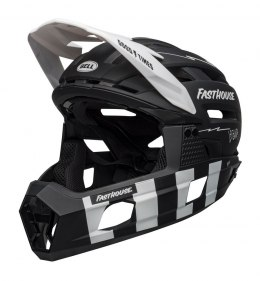 BELL Kask full face BELL SUPER AIR R MIPS SPHERICAL matte black white fasthouse roz. L (59-63 cm) (NEW)